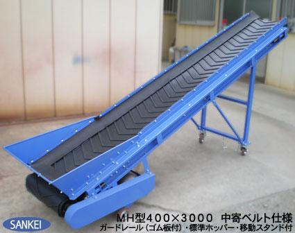 耐熱ベルトコンベア(MH型) | 搬送用コンベア | 製品紹介 | 機械製造メーカー 三恵製作所株式会社