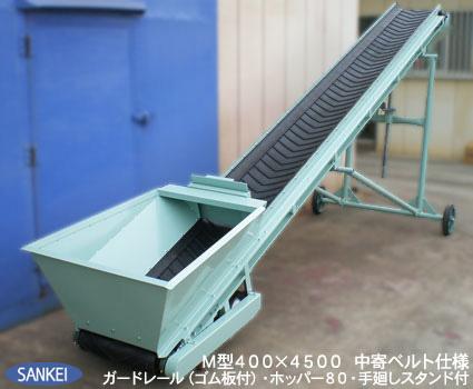 万能ベルトコンベア(M型) | 搬送用コンベア | 製品紹介 | 機械製造メーカー 三恵製作所株式会社
