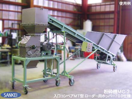 粉砕機 MC型 | 粉砕機 | 製品紹介 | 機械製造メーカー 三恵製作所株式会社