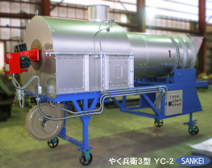 高温熱風殺菌乾燥機 やく兵衛3型 | 乾燥機 | 製品紹介 | 機械製造メーカー 三恵製作所株式会社